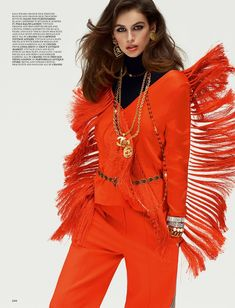 Kaia Geber wearing Chanel jewels in Spring 2018 Love Magazine
