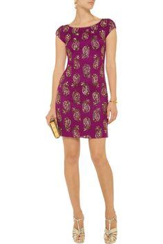 Embellished silk-chiffon mini dress by Notte by Marchesa