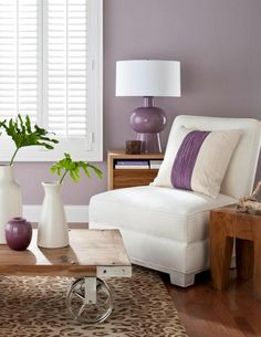 LOVE LOVECool Lilac Grey Living Room