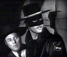 Zorro (Guy Williams) and his sidekick Bernardo (Gene Sheldon) with the bumbling Sgt. Garcia (Henry Calvin). Loved it.