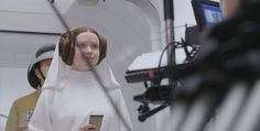 Princess Leia - Rogue One BTS