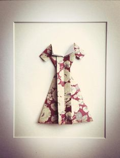Origami Dress Vintage.  Paper Art. by RubyCanoeDesign on Etsy, $15.00