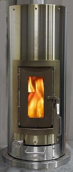 Lehets Kimberly Stove...a wood-burning stove for the tiny abode. This is super efficient, and very small. Love it!