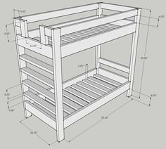 bunk bed dimensions plans - Bunk Beds Design Plans