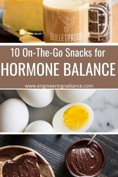 10 on-the-go snacks that are easy to make and won't trigger a blood sugar crash Hormonal Migraine, Grass Fed Ghee, Homemade Trail Mix, Matcha Green Tea Powder, On The Go Snacks, Hazelnut Spread, Hormone Balancing, Energy Bites, Gluten Free Chocolate