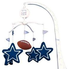 f2941fbc398 Dallas Cowboys NFL Infant BABY MOBILE Shower Gift Etc. The Dallas Cowboys  NFL Football Baby Mobile. Rindi Perry