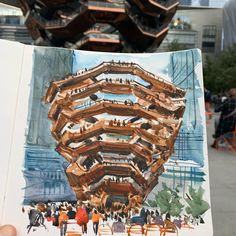 Shari Blaukopf · The Vessel in Hudson Yards, NY Hudson Yards, Urban Sketchers, Architecture, Arquitetura, Architecture Design, Urban Sketching