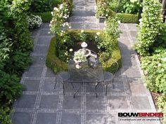 Chinees hardsteen tuintegels 50x50x2,5 cm getrommeld - Bouwbinder