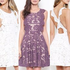 Designer Floral Lace Dress for Bridal Shower, Wedding Guest, Homecoming