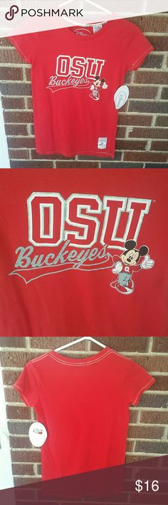 SMALL Disney Ohio State Buckeyes Shirt Brand new with tags. You can't tell in the picture but the OSU is lined in a light pink. :) Disney Tops Tees - Short Sleeve