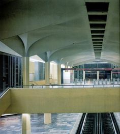 Interior Mexican Subway Station by Felix Candela 1969