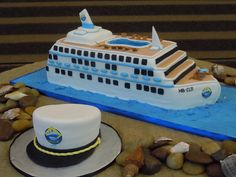 Cruise Ship Cake with Captain's Hat | Flickr - Photo Sharing!