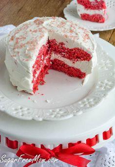 Sugar free Red Velvet Couples Mug Cake