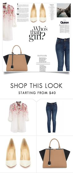 """""""Untitled #209"""" by nihada106 ❤ liked on Polyvore featuring Christian Louboutin, Fendi, women's clothing, women's fashion, women, female, woman, misses and juniors"""