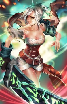 LEAGUE OF LEGENDS SEXY GIRLS • Riven - League of Legends by ofSkySociety