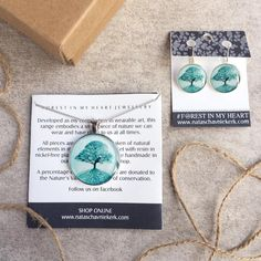 Pendant and Earrings Gift Box - The Secret Life of Trees, Turquoise Secret Life, Heart Jewelry, Wearable Art, My Heart, Trees, Range, Turquoise, Pendant, Box