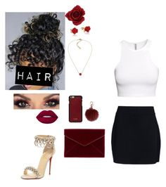 """""""Bleeding heart"""" by faithanjel ❤ liked on Polyvore featuring Disney, Vianel, A.L.C., H&M, Lauren Ralph Lauren, Rebecca Minkoff, Lime Crime and Christian Louboutin"""