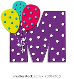 "Imágenes similares, fotos y vectores de stock sobre H, in the alphabet set ""Balloon Spots"", is decorated with polka dotted balloons in multi-colors. Letter is purple with white polka dots. Polka Dot Balloons, Letter Balloons, Polka Dots, Alphabet Art, Alphabet And Numbers, Alphabet Design, Typography Art, Lettering, Letter Symbols"