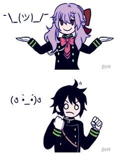 Owari no Seraph Emoji Fun!