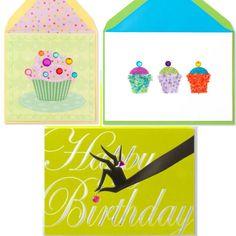 PAPYRUS Birthday Cards 3 Green Anyone Cupcake Cherry on Top 08026712 01000116 #Papyrus #Birthday