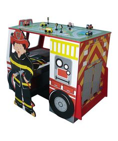 Another great find on Fire Engine Desk & Chair Set by Teamson Design Kids Table Chair Set, Toddler Table, Desk And Chair Set, Desk Set, Desk Chair, Fire Truck Bedroom, Firefighter Room, Play Kitchen Sets, Kids Bookcase