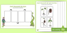 A useful activity / activities sheet for use when learning about growing plants! Math Place Value, Place Values, Free Teaching Resources, Teaching Ideas, People Who Help Us, Map Activities, Traditional Tales, Jack And The Beanstalk, 10 Frame