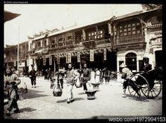1901年の南京路 Nanking Road, Shanghai in 1901