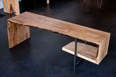 Sycamore single slab tri-fold coffee table    www.urbanhardwoods.com