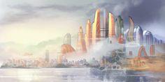 Zootopia Cityscape by MonoFlax on DeviantArt Zootopia Comic, Zootopia Art, Morning View, Future City, Beautiful Artwork, Black Art, Scenery, Digital Art, Skyline
