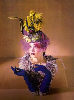 Vogue Italia Sept 1997 'Sculptured Couture' - Rhea Durham by David Seidner Philip Treacy Hats, Walk In Wardrobe, Contemporary Fashion, Headdress, The Ordinary, Captain Hat, Fashion Photography, Vogue, Fashion Outfits
