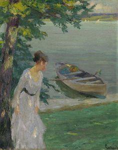 Dame am See, 1910, Edward Cucuel. American (1875 - 1951)