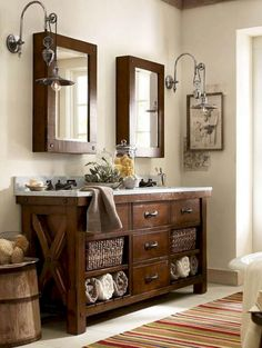 Adorable 125 Awesome Farmhouse Bathroom Vanity Remodel Ideas https://roomadness.com/2018/02/18/125-awesome-farmhouse-bathroom-vanity-remodel-ideas/