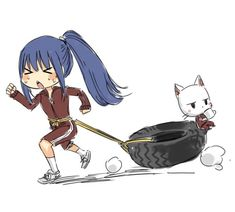 Wendy Marvell and Charle Marvell - by Hiro Mashima - Anime Fairy Tail, Fairy Tail Comics, Fairy Tail Funny, Fairy Tail Art, Fairy Tail Girls, Fairy Tail Couples, Fairy Tales, Top Anime Characters, Fairy Tail Characters