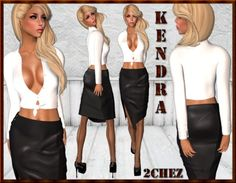 2Chez) Riye Black Leather Skirt, Tied Shirt, Anklewrap Pumps | MY ...