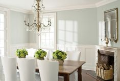 Wickham Gray by Benjamin Moore is a calming and subtle shade—perfect for a dining room.