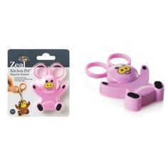 3ee1637babc Zeal Pig Mini Animal Character Kitchen Scissors with Magnetic Base   Fridge  Magnet