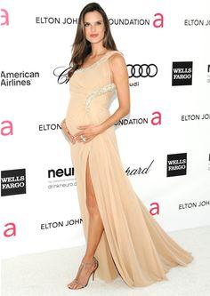 Alessandra Ambrosio - beautiful long dress - maternity fashion style ...
