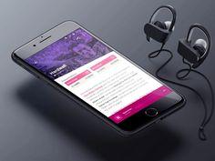 DJ about page - Tomorrowland Festival App by Moisés Dias