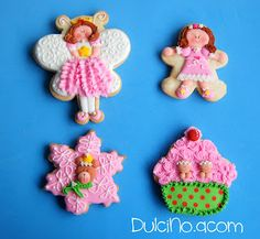 Pink and green #Christmas #cookies by Capix Cookies.  Curso de galletas con Chapix Cookies