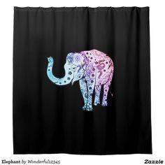 #Elephant Shower Curtain