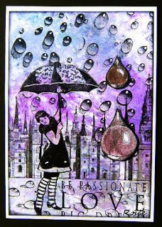 Rosie's Bastelwelt - Design by Ryn's raindrops and waterdroplets