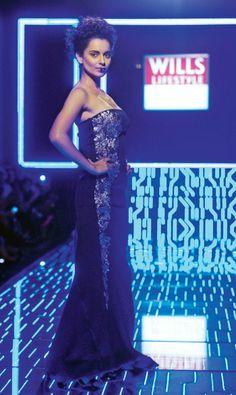 Kangana Ranaut at the Wills Lifestyle Fashion Week 2014 #Style #Fashion #Beauty #WLFW2014 #Bollywood
