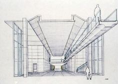 The Modern Art Museum of Fort Worth by Tadao Ando in Fort Worth Museum Architecture, Architecture Drawings, Architecture Diagrams, Fort Worth Art Museum, Parti Diagram, Tadao Ando, Museum Of Modern Art, Line Drawing, Case Study