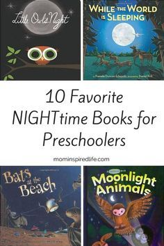 Preschool Literacy: 10 Nighttime Books for Preschoolers. This is a great book list for night theme lesson plans. Fall is the perfect time to read about and explore the night!