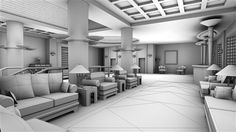 3D Ambient occlusion, lobby