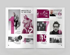Creative Editorial, Design, Brochures, Magazine, and Brochure image ideas & inspiration on Designspiration Yearbook Layouts, Yearbook Design, Yearbook Spreads, Design Editorial, Editorial Layout, Identity Design, Logo Inspiration, Brochure Inspiration, Table Of Contents Design