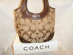 11. Coach Signature Pleated Ergo Shoulder bag PreOwned. Starting at $20 on Tophatter.com! Coach Handbags, Coach Bags, Dark Brown Leather, Gucci, Shoulder Bag, Style, Swag, Shoulder Bags, Coach Purse