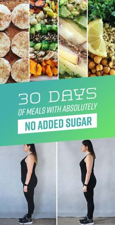 30 Days Of Meals You Can Eat During A Sugar Detox no sugar diet plan Sugar Detox Recipes, Sugar Detox Diet, No Sugar Diet, No Sugar Foods, Diet Recipes, Diet Meals, Cleanse Recipes, Low Sugar Meals, Low Sugar Recipes