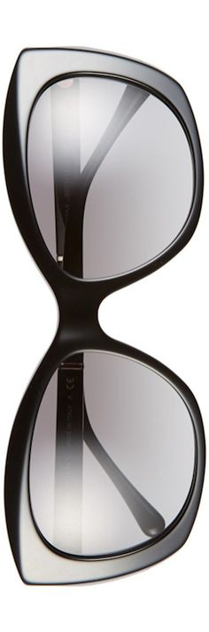 Burberry 55mm Sunglasses  shown in Black