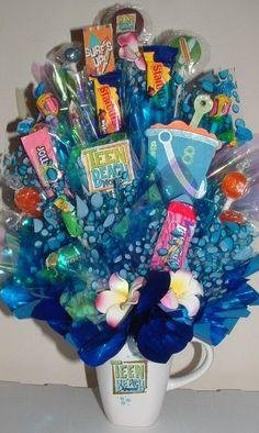 TEEN BEACH MOVIE Candy Bouquet / Centerpiece by CandyFlorist, $21.95